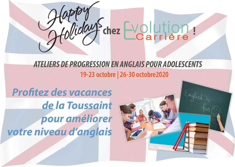 Ateliers Anglais ados - vacances Toussaint