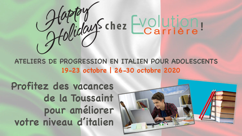 Ateliers d'italien pour ados - vacances scolaires