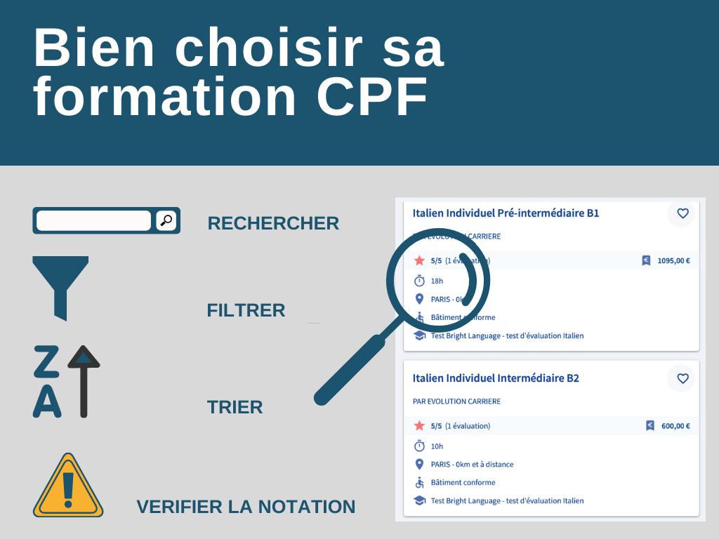 Bien choisir sa formation CPF