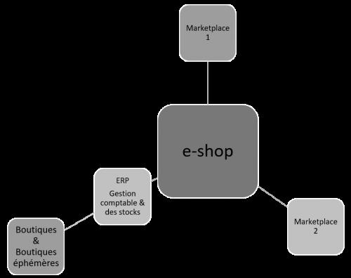 Schéma du dispositif site internet WordPress connecté